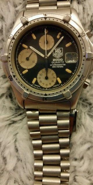 Tag Heuer 2000 Quartz Professional (262.  006 - 1) Uhr Für Herren Bild