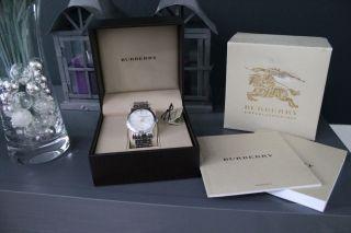 Burberry Herrenuhr Stainless Steel Chronograph 40mm Weiß; Analog Chic Bild