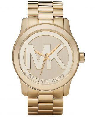 Michael Kors Damenuhr Armbanduhr Mk5473 Logo Xl Ovp Bild