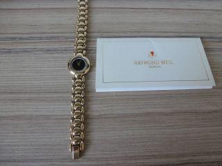 Raymond Weil - Geneve Damen Uhr Mit 40 Diamanten Und 18k Goldbeschicht. Bild