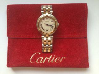 Cartier Panthere Vendome 2rang 18k Gelbgold Edelstahl Quarz Damen Bild