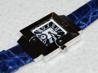 Van Der Bauwede Oxalis Blue Leather Strap Watch Uhr Swiss Made Bild