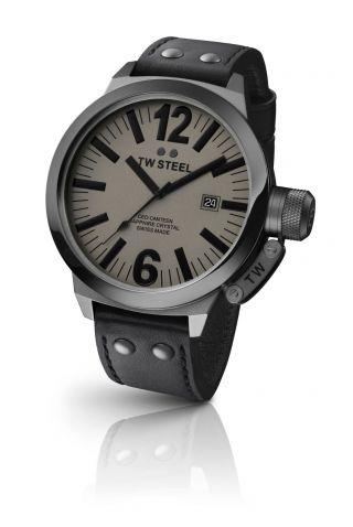 Tw Steel Canteen Ce1052 Ceo Herrenuhr Lederarmband Uhr Zifferblatt Grau Bild