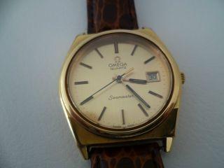 Vintage Omega Seamaster Swiss Made Herren Uhr Vergoldet LÄuft Bild