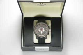 Tw - Steel Uhr Herrenuhr Tw - 613 Schwarz Armband Kautschuck Bild