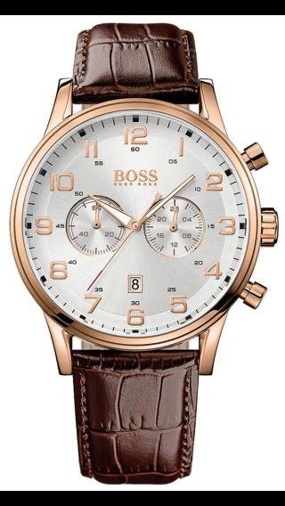 Hugo Boss Herrenuhr Aeroliner Chronograph Chrono Uhr 1512921 Bild