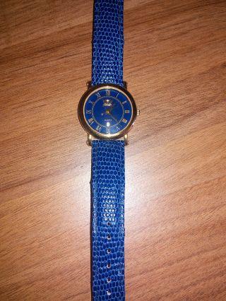 Cavadini Uhr Azur Blau 18 Karat Vergoldet Bild