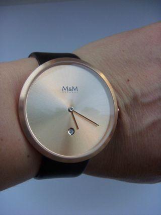 M&m Germany Uhr Damenuhr M11881 - 599 Jumbo Big Time Rose Mit Datum Bild