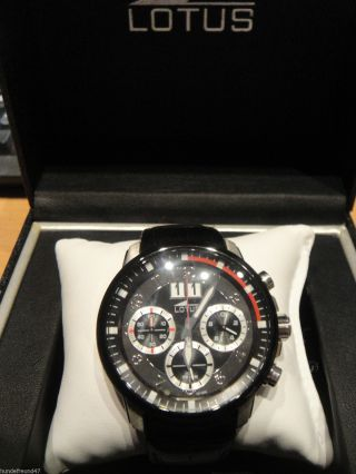 Lotus Chronograph 1011603 Mit Lederarmband In Org.  Box Bild