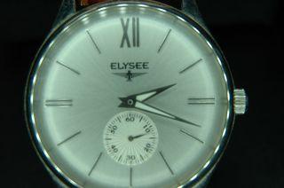Armbanduhr,  Elysee,  Lederarmband,  Edelstahl - Gehäuse Bild