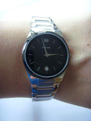 Danish Dänisches Design Uhr Watch 3324343 Keramik Metallband Datum Iv63q880 Bild