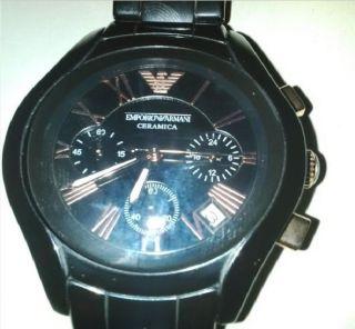 Emporio Armani Ceramica Watch Chronograph Ar1411 Bild