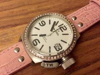 Tw Steel Ceo Canteen Style Tw 36 Tw - 36 Swarovski Damenuhr Leder Pink Bild