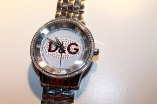 D&g Dolce & Gabbana Women ' S Dw0144 Prime Time Stainless Steel Red Accent Watch Bild