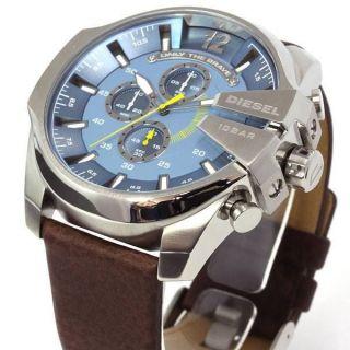 Diesel Herren - Armbanduhr Xl Mega Chief Chronograph Quarz Leder Dz4281 Bild