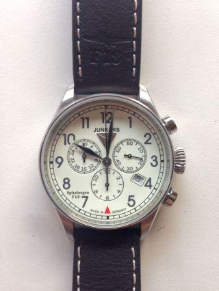 Junkers 6186 - 2 Spitzbergen F13 Chronograph Fliegeruhr Bild