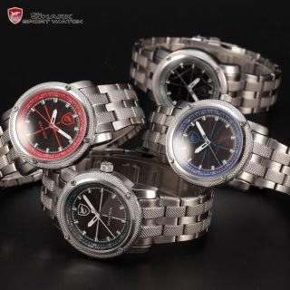 U Shark Herrenuhr Quarzuhr Edelstahl Armbanduhr Analog Herren Uhr 4 Farben Bild