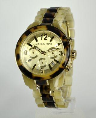 Michael Kors Damenuhr Mk5764 Chronograph Im Horn - Design Bild