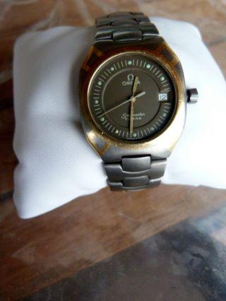 Seamaster Datum Titan/gold Quarz Herrenuhr Bild