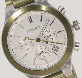 Dkny Donna Karan York Damenuhr / Damen Uhr Chronograph Datum Grün Ny8268 Bild