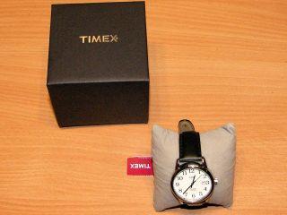 Timex Armbanduhr Indiglo Wr 30m Herrenuhr Lederarmband Originalverpackt Bild