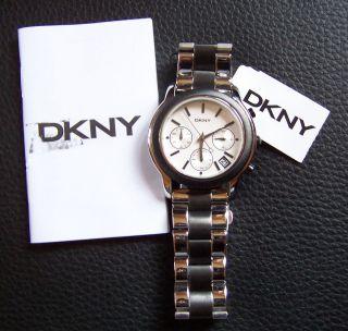 Dkny Ny8328 Donna Karan Armbanduhr Chronograph Damenuhr Uhr Bicolor Lp199€ Bild