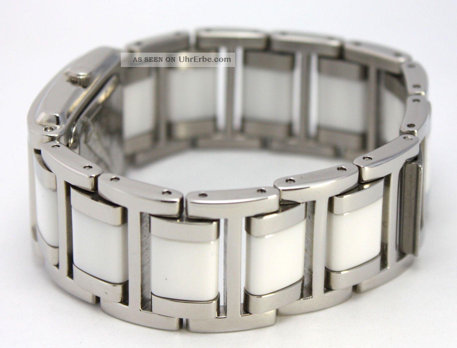 just damenuhr keramik edelstahl armbanduhr wei silber. Black Bedroom Furniture Sets. Home Design Ideas