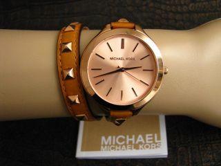 Michael Kors Damenuhr Double Wrap Mk2299 Rosegold Bild