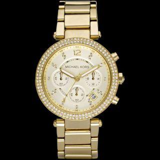 Michael Kors Uhr Mk5354 Parker Damen Chronograph Edelstahl Armbanduhr Analog Bild