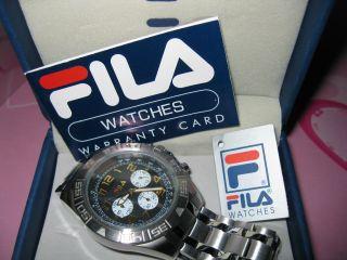 Fila Herren - Chronograph Fa4120 In Geschenkbox Ungetragen Folie Noch Drauf Bild