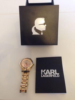 Karl Lagerfeld Kl1217 Armband Uhr Unisex Watch Stainless Steel Gold Bild