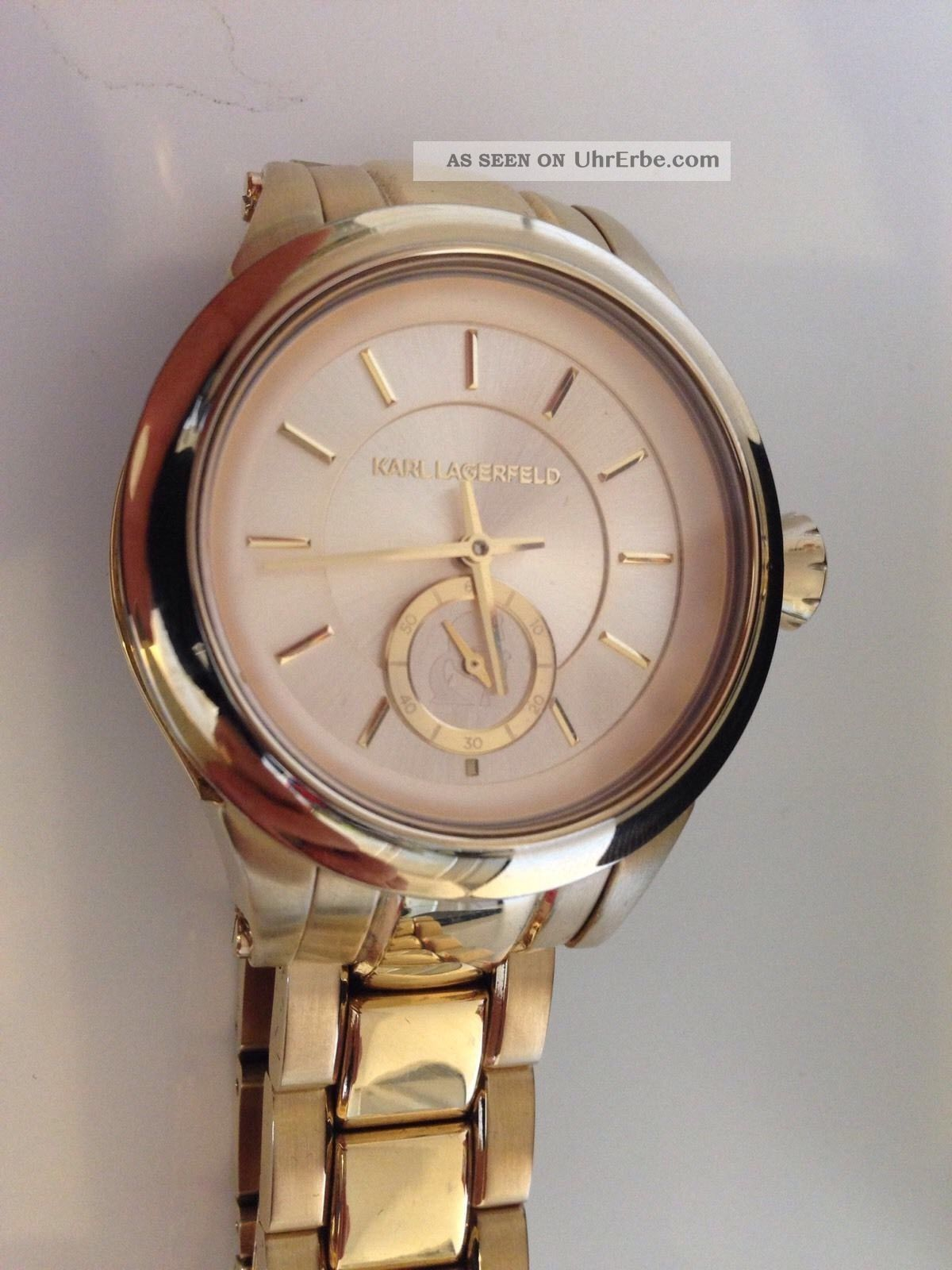karl lagerfeld kl1217 armband uhr unisex watch stainless. Black Bedroom Furniture Sets. Home Design Ideas