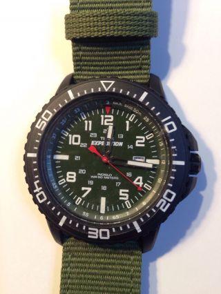 Armbanduhr: Men ' S Green Timex Expedition Uplander Watch T49944 Bild