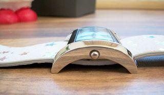Uhr - Armbanduhr - Orig.  Mango - Weißes Leder M.  Sternen - M.  Etikett Bild