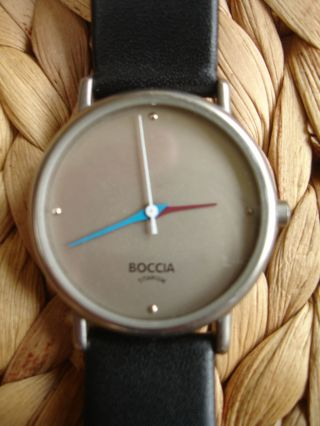 Bocciatitanium Damenuhr Damenarmbanduhr Armbanduhr Lederband,  Batterie Bild