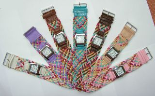 Sommerhit 2014 Damen Uhr Armbanduhr Quarz Analog Flechtarmband Bild