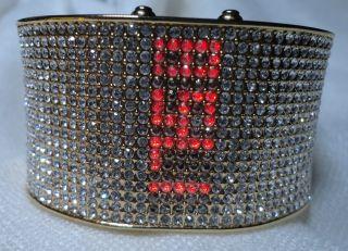 Damen Uhr,  Spangenuhr,  Gelbvergoldet Mit Kristalle,  Digital,  Quartz, Bild