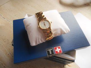 Tissot G324k Damenarmbanduhr Mit Vergoldetem Metallband Bild