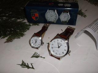 Royal Spencer Partner - Uhren Für Sie & Ihn Mit Lederarmband Bild