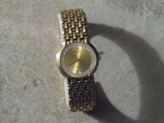 Raymond Weil Uhr 18 Carat Vergoldet Mit Zirkonia (brilant Geschlifen) Sehrmarkant Bild
