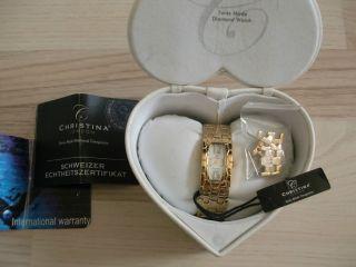 Christina London Damenarmbanduhr Damenuhr Mit Diamanten Neuwertig Bild