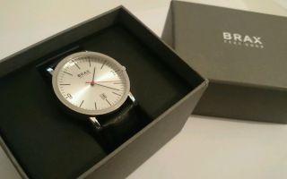 Brax Uhr Lederarmband Armbanduhr Neuwertig Silber Herrenuhr Elegant Conleys Bild