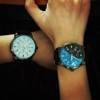 Stilvolle Quarz - Armbanduhr Oversized Dial Herren Rubber Band Sport Kinderuhren Bild