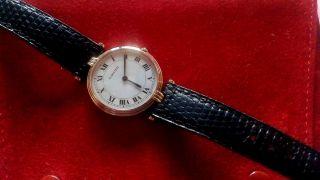 Cartier Vendome Trinity Armbanduhr Massiv Gold/dreigold Damen Großes Modell Bild