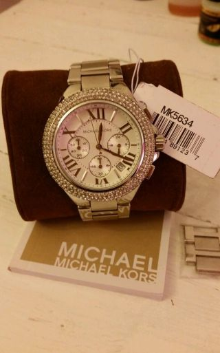 Michael Kors Mk5634 Armbanduhr Für Damen Edelstahl Mit Vielen Kristallen Bild