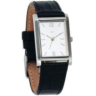 Jobo Damen - Armbanduhr Lederband Schwarz Bild
