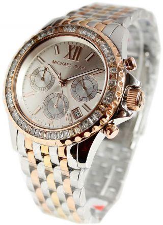 Michael Kors Uhr Damenuhr Armbanduhr Edelstahl/silber Chronograph Mk5876 Bild