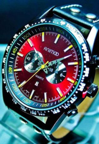 Force Fashion Uhr Force Animoo Xxl Herrenuhr Mit Datum Tachymeter Bild