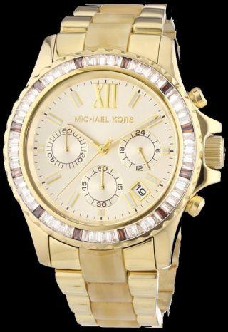 Armbanduhr Michael Kors Gold Ton Chronograph