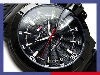 Tommy Hilfiger Herrenuhr Schwarze Gummiband Uhr Turbo 1790525 Bild